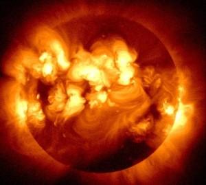 Сильнейшая вспышка на Солнце